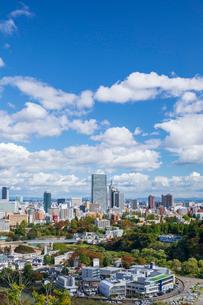 仙台城跡より望む仙台市街の写真素材 [FYI03439120]