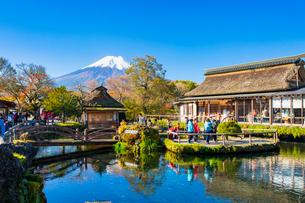 中池と富士山の写真素材 [FYI03439150]