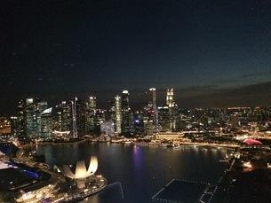 シンガポールの夜景の写真素材 [FYI03439185]