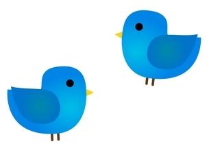 青い鳥のイラスト素材 [FYI03439247]
