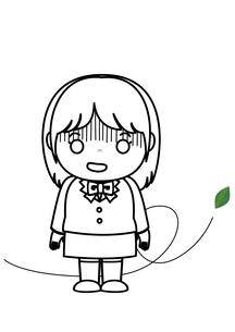 女子校生 ショックのイラスト素材 [FYI03439249]