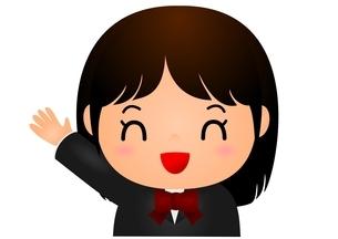 女子校生 笑顔 にっこりのイラスト素材 [FYI03439250]