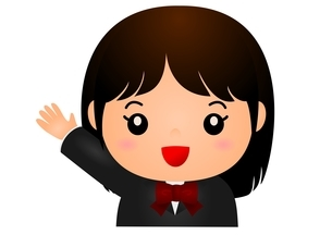 女子高生 笑顔のイラスト素材 [FYI03439251]