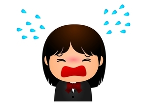 女子校生 号泣のイラスト素材 [FYI03439264]