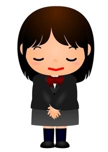 女子校生 礼のイラスト素材 [FYI03439269]