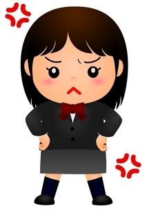 女子校生 怒るのイラスト素材 [FYI03439270]