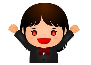 女子校生 やる気 のイラスト素材 [FYI03439274]