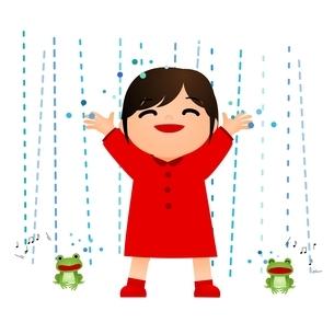 雨 かえるのイラスト素材 [FYI03439279]