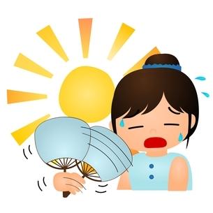 暑い 太陽のイラスト素材 [FYI03439281]