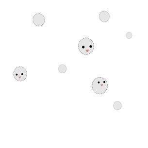 ふわふわ 胞子 雪のイラスト素材 [FYI03439286]