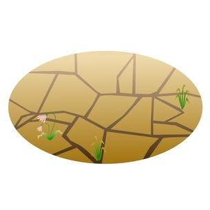 地面 ひび割れのイラスト素材 [FYI03439289]