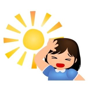太陽 暑い まぶしいのイラスト素材 [FYI03439294]