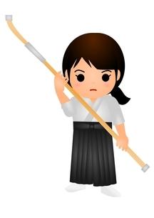 薙刀のイラスト素材 [FYI03439295]
