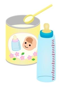粉ミルク 哺乳瓶のイラスト素材 [FYI03439322]