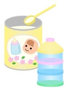 粉ミルク 持ち運びのイラスト素材 [FYI03439323]
