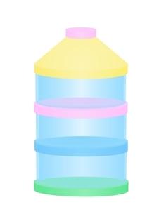 ベビーグッズ 粉ミルク入れのイラスト素材 [FYI03439324]