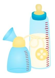 搾乳器 電動 哺乳瓶のイラスト素材 [FYI03439327]
