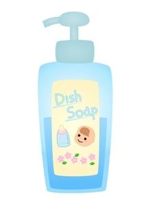 ポンプ型赤ちゃん用洗剤のイラスト素材 [FYI03439332]