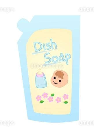 赤ちゃん用食器用洗剤 詰め替えのイラスト素材 [FYI03439336]