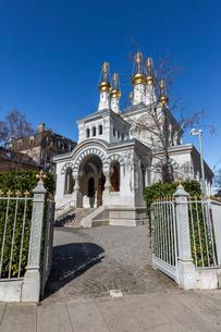 スイス、ジュネーブのロシア正教教会の写真素材 [FYI03439366]