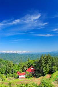 清水禅寺と白馬連峰など北アルプスの写真素材 [FYI03439507]