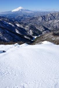 雪の塔ノ岳より望む富士山の写真素材 [FYI03439584]