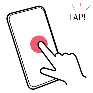 スマートフォン タップ イラストのイラスト素材 [FYI03440323]