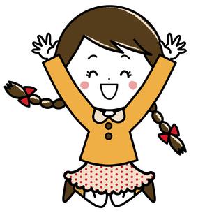 ジャンプする女の子 ポーズ イラストのイラスト素材 [FYI03440342]