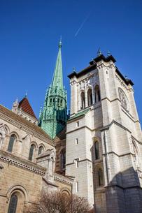 スイス、ジュネーブ旧市街、サン・ピエール大聖堂の写真素材 [FYI03440501]