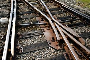 線路のポイント部分の写真素材 [FYI03440651]