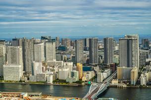 カレッタ汐留の展望台から見える東京の街並みの写真素材 [FYI03440792]
