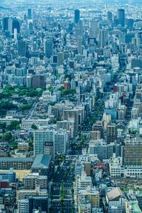 あべのハルカスからの大阪の街並みの写真素材 [FYI03440832]