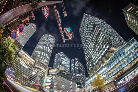 名古屋駅前の夜景の写真素材 [FYI03440871]