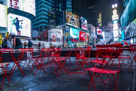 ニューヨーク・タイムズスクエア(TimesSquare)の夜景の写真素材 [FYI03440930]