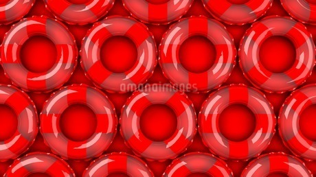 Red swim rings on red backgroundのイラスト素材 [FYI03440989]