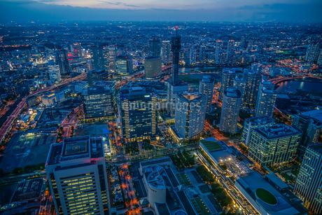 横浜ランドマークタワーから夜景の写真素材 [FYI03441230]