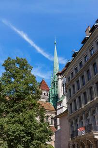 スイス、ジュネーブ旧市街、サン・ピエール大聖堂の写真素材 [FYI03441557]