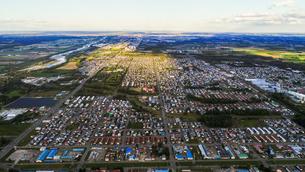 芽室町の空撮の写真素材 [FYI03442114]