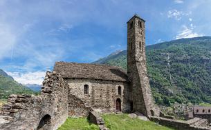スイス、ジョルニコ、古い砦の写真素材 [FYI03442247]