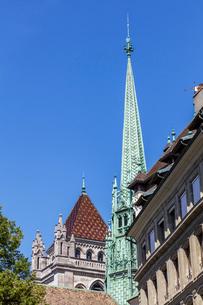 スイス、ジュネーブ旧市街、サン・ピエール大聖堂の写真素材 [FYI03442297]