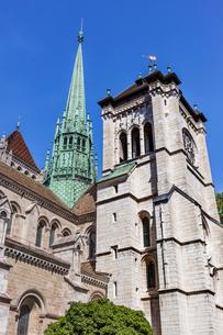 スイス、ジュネーブ旧市街、サン・ピエール大聖堂の写真素材 [FYI03442301]