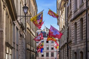 スイス、ジュネーブ旧市街の写真素材 [FYI03442315]