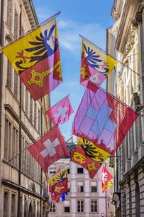 スイス、ジュネーブ旧市街の写真素材 [FYI03442318]