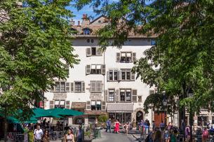 スイス、ジュネーブ旧市街の写真素材 [FYI03442375]