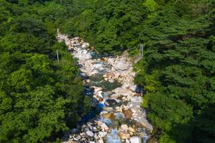 夏の猿ヶ城渓谷の写真素材 [FYI03442605]