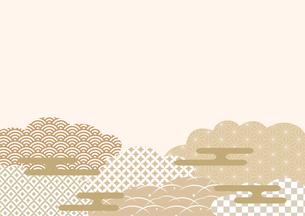 和柄 背景 雲 霞のイラスト素材 [FYI03443100]