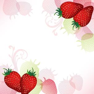 苺 背景のイラスト素材 [FYI03443985]