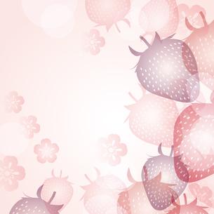 苺 背景のイラスト素材 [FYI03444150]