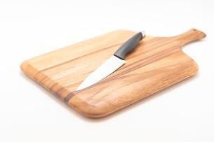 カッティングボード 木製のまな板の写真素材 [FYI03444198]