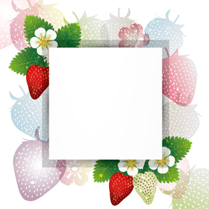 苺 フレームのイラスト素材 [FYI03444414]